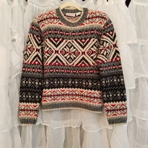 Cozy holiday cropped sweater
